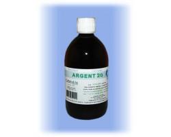 Oligo-élément Argent Colloïdal ionisés 20 ppm - flacon 500 ml