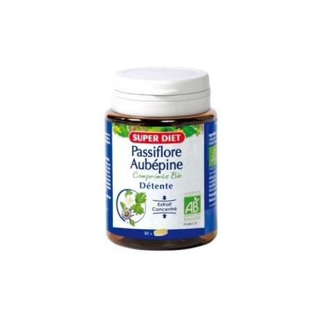 Complément alimentaire antistress anxiété Passiflore / Aubépine Bio - 80 comprimés