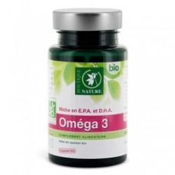Complément alimentaire acide gras indispensable d'Oméga 3 pilulier de 90 capsules d'origine marine