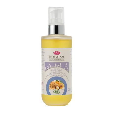 Huile de base pour massage Sésame-Abricot-Macadamia Bio 200 ml
