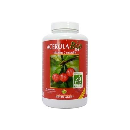 Vitamine C naturelle - Acérola bio 500 - 100 comprimés format familial