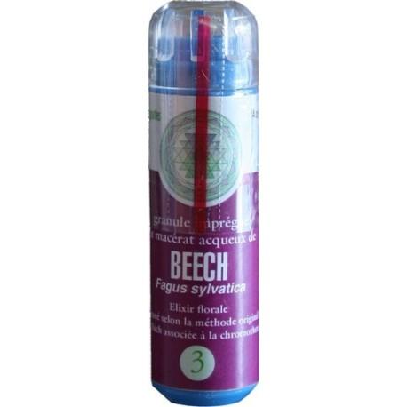 Equilibre émotionnel fleur de bach sans alcool Beech (n°3) - 130 granules