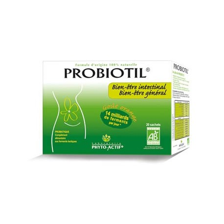 Probiotique le premier probiotique certifié AB digestion et transit - Probiotil 20 sachets